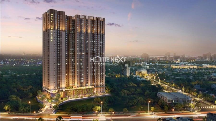 Phối cảnh dự án căn hộ Opal Skyline Phạm Văn Đồng
