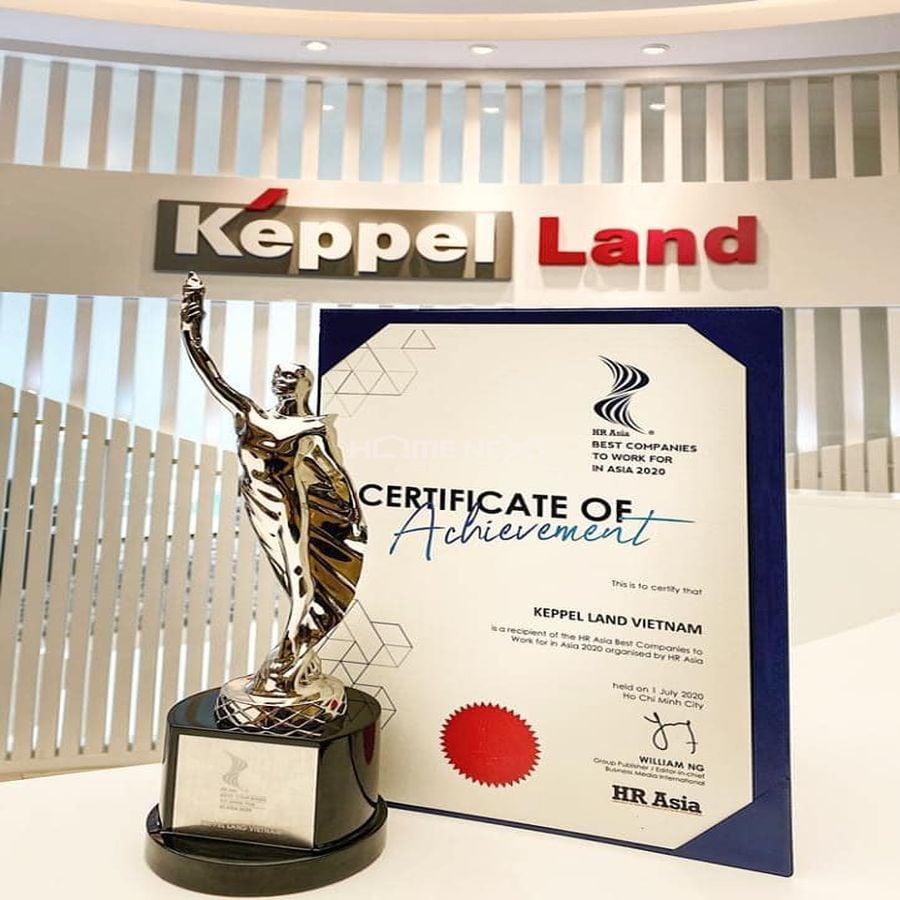 Cúp và chứng nhận giải thưởng của Keppel Land năm 2020