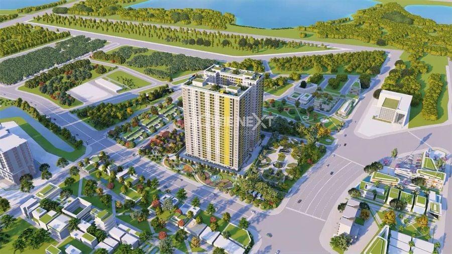 Phối cảnh dự án chung cư Bcon Plaza Dĩ An Bình Dương