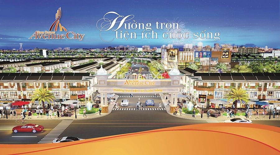 Phối cảnh dự án Avenue City Bình Dương (khu nhà ở U&I Thới Hòa)