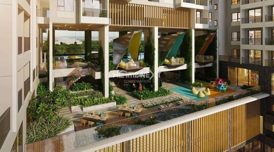 Khu Family Lounge tại tầng 6 với tầm view Sân Golf Sông Bé.