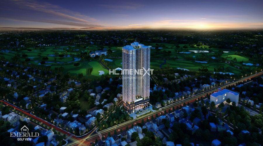 Tòa chung cư cao tầng The Emerald Golf View trong tương lai
