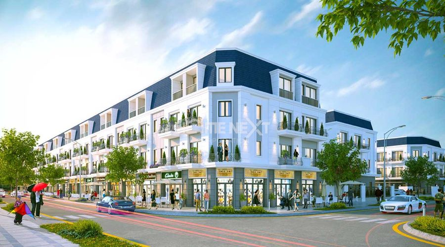Toàn cảnh Shophouse dự án The Standard Tân Uyên Bình Dương