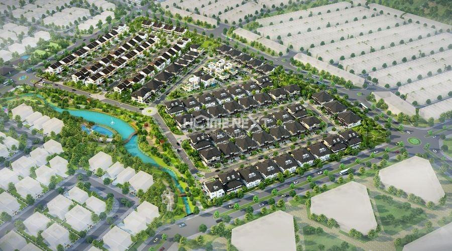 Phối cảnh tổng thể dự án nhà phố Thung Lũng Ước Mơ EcoLakes