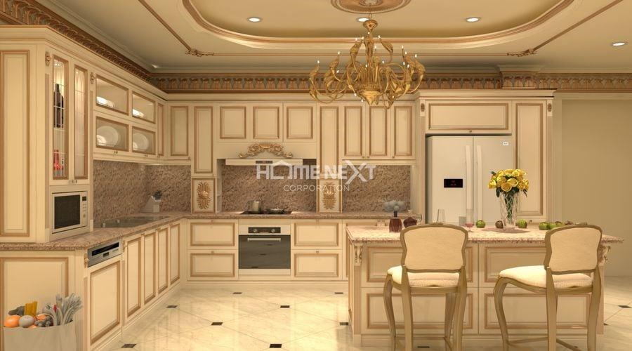 Thiết kế cổ điển cho phòng bếp