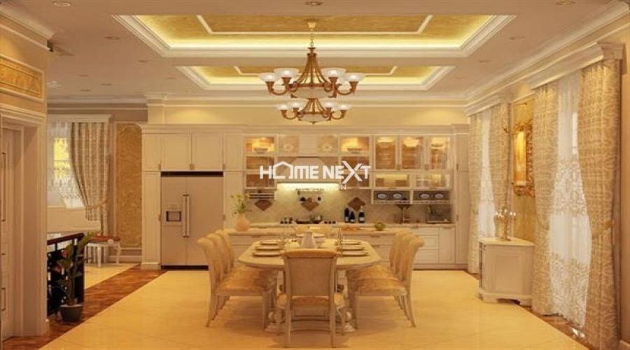 Phòng bếp được thiết kế theo phong cách cổ điển
