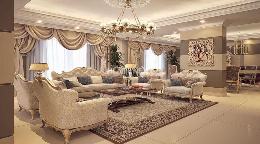 Phong cách nội thất cổ điển lựa chọn những tông màu trầm