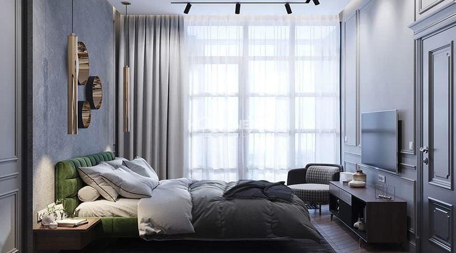 Phòng ngủ với nội thất tinh tế, sang trọng
