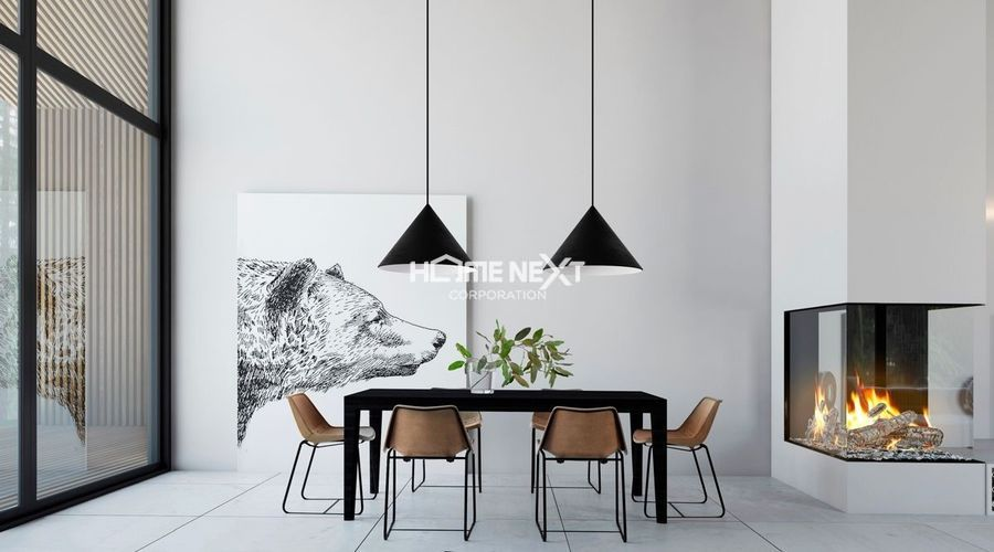 Phong cách nội thất tối giản sử dụng đường nét đơn giản, giảm thiểu đồ nội thất