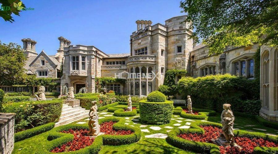 Thiết kế phong cách vườn phương Tây hiện đại và tinh tế
