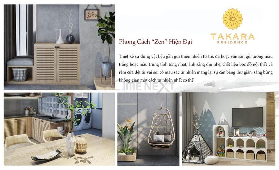 Sử dụng phong cách Zen tạo cảm giác ấm áp, gần gũi
