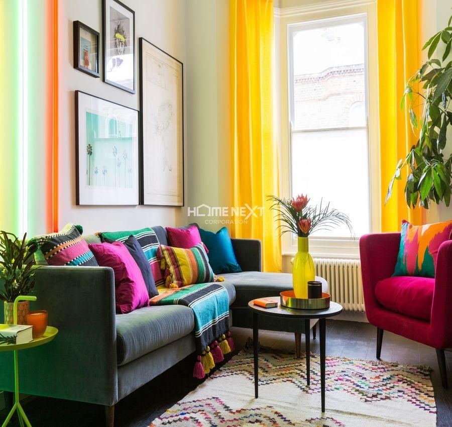 Phòng khách mệnh Thủy mất hài hòa về màu sắcT