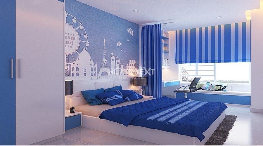 Phòng ngủ được bố trí hợp với phong thủy