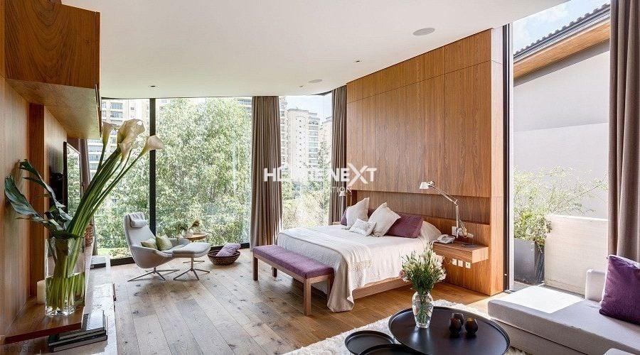 Phòng ngủ thiết kế mở tận dụng ánh sáng và thiên nhiên xanh