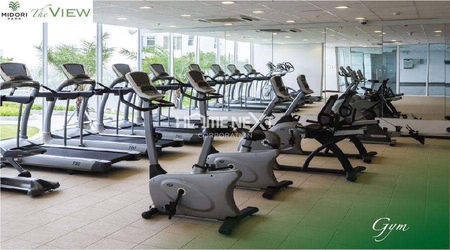 Phòng tập Gym được trang bị máy móc hiện đại tại The View