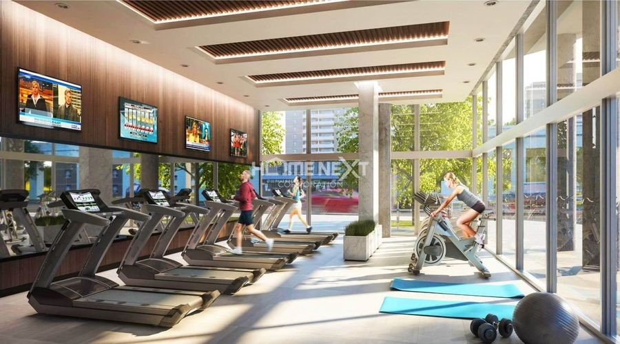 Phòng tập gym dự án được thiết kế hiện đại