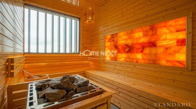 Phòng xông hơi Sauna dự án nhà phố The Standar Central Park Tân Uyên Bình Dương