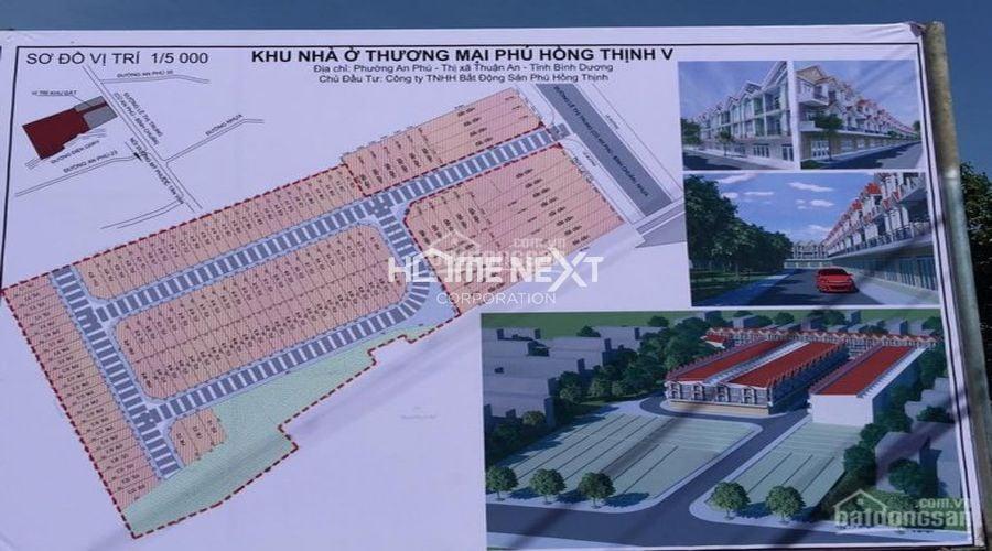 Sơ đồ vị trí 1/500 khu nhà ở thương mại Phú Hồng Thịnh V