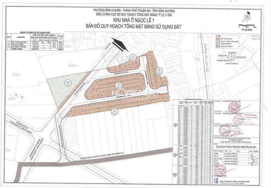 Phê duyệt 1/500 dự án nhà phố La Vela Garden Bình Dương