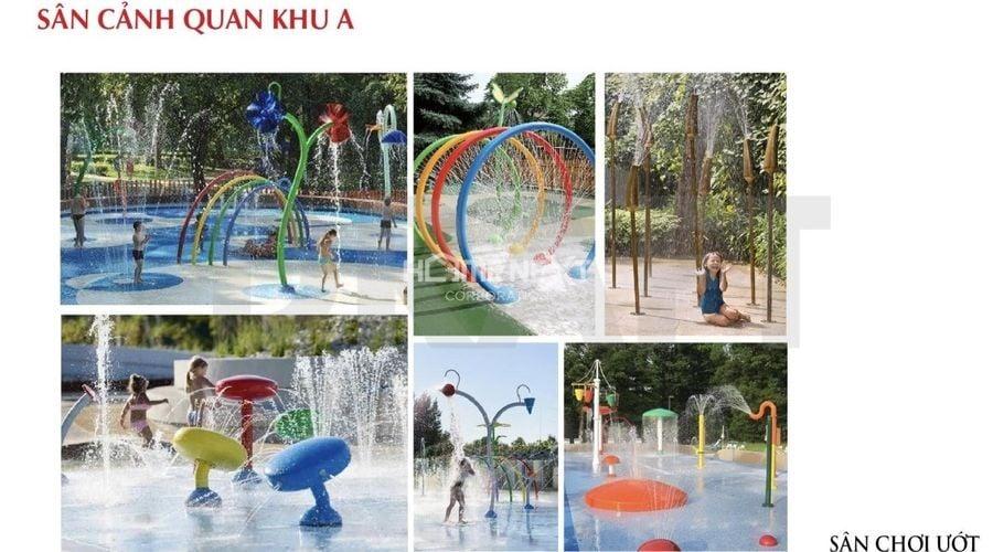 Sân cảnh quan Khu A với khu vui chơi giải trí hấp dẫn