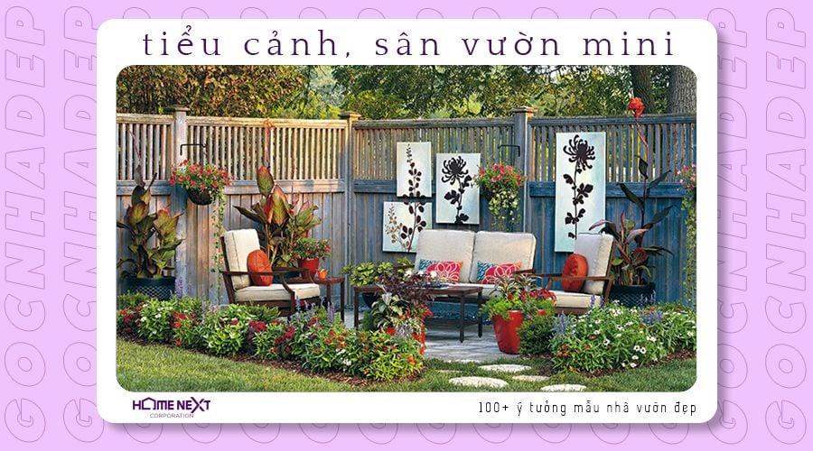 mẫu sân vườn mini