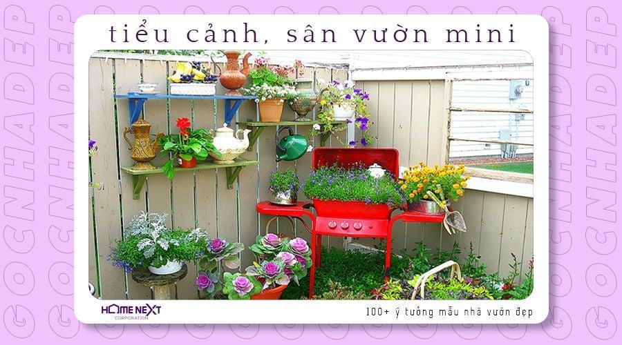 Tiểu cảnh khu vườn thu nhỏ