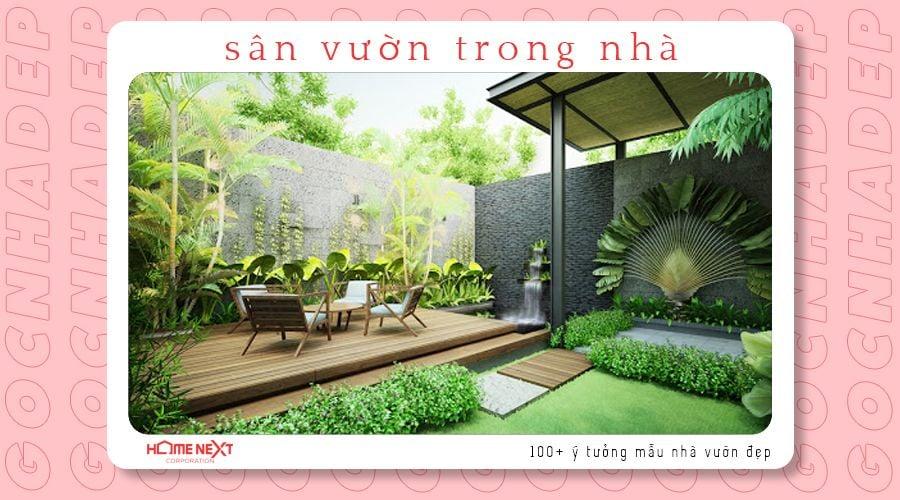Thiết kế sân vườn trong nhà