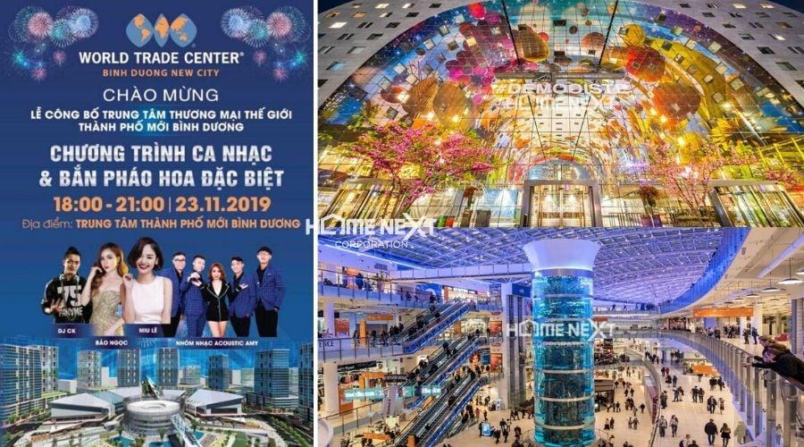 sự kiện trung tâm thương mại thế giới bình dương
