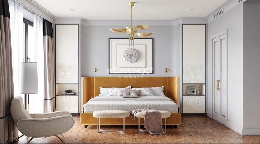 Ánh sáng tự nhiên giúp cho phòng ngủ thoáng đãng hơn