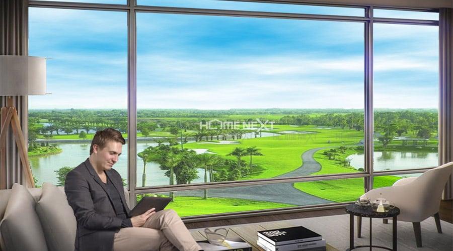 View nhìn ra sân Golf tại The Emerald