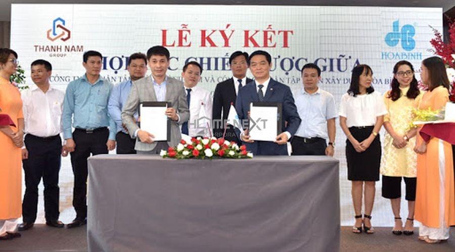 Lễ ký kết hợp tác chiến lược giữa Thành Nam Group và Hòa Bình