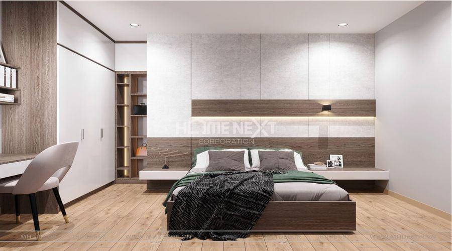 Không gian phòng ngủ sang trọng, hiện đại tại chung cư Eco Xuân