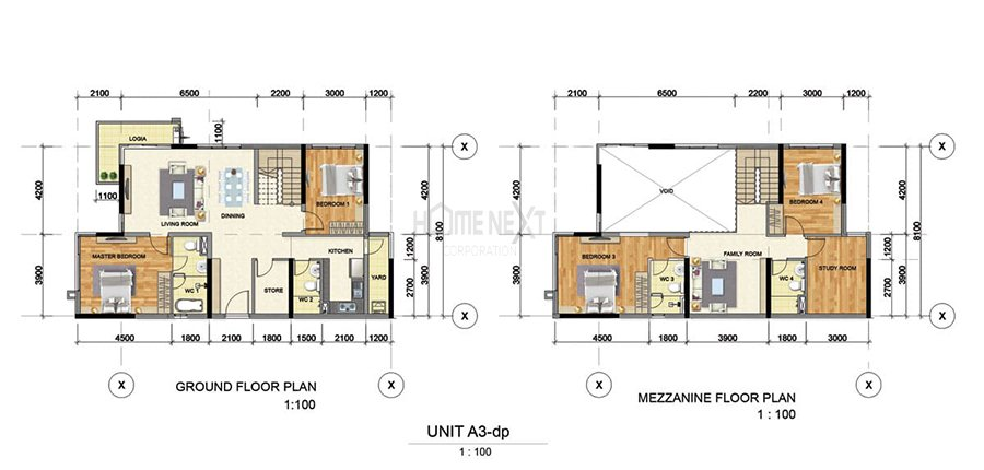 Mẫu căn hộ Duplex A3 của Astral City Bình Dương
