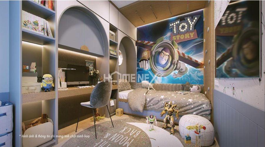Phòng ngủ dành cho trẻ vô cùng đáng yêu và năng động