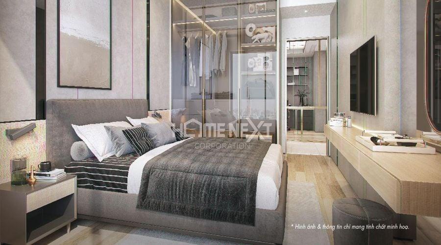 Phòng ngủ được thiết kế đẹp mắt, tinh tế