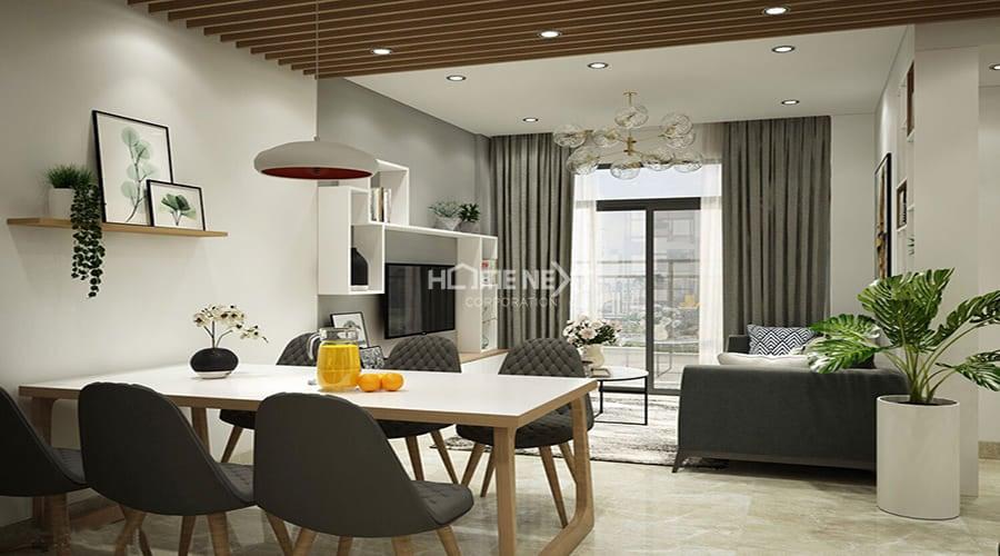 Đồ nội thất có ảnh hưởng nhất định đến vẻ đẹp và sự thoáng rộng của toàn căn hộ