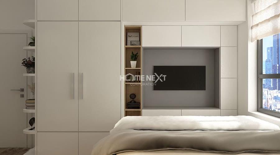 Phòng ngủ đơn giản không có quá nhiều nội thất nhưng người sử dụng vẫn cảm thấy ấm áp và gần gũi