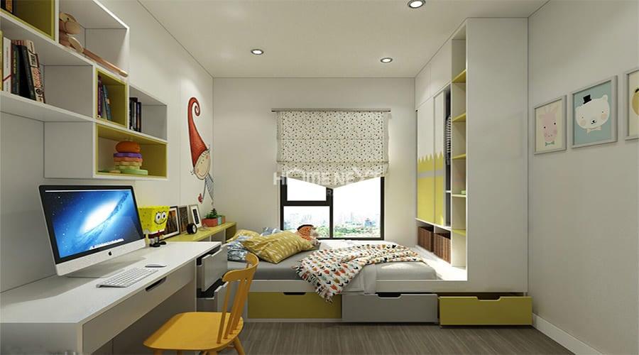 Sử dụng loại giường có thiết kế tận dụng tối đa nhiều hộc