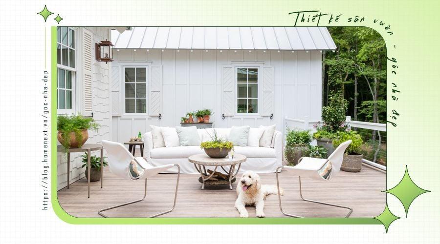 Thiết kế sân vườn bên hông nhà tăng thêm sinh khí, tài lộc