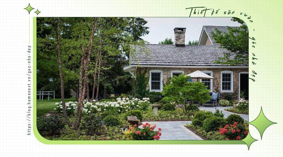 Mẫu sân vườn đẹp phía sau nhà