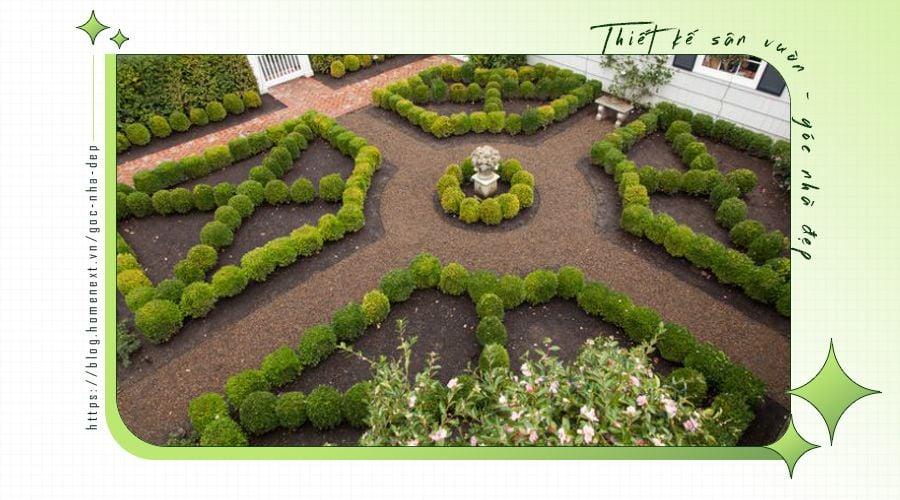 Kiểu cách thiết kế sân vườn đẹp hiện nay