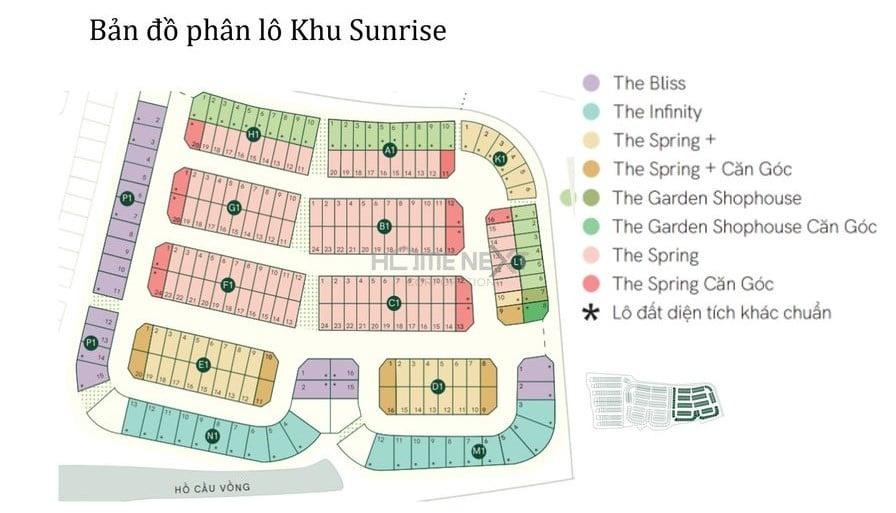 Mặt bằng tổng thể phân khu Sunrise dự án ID Junction