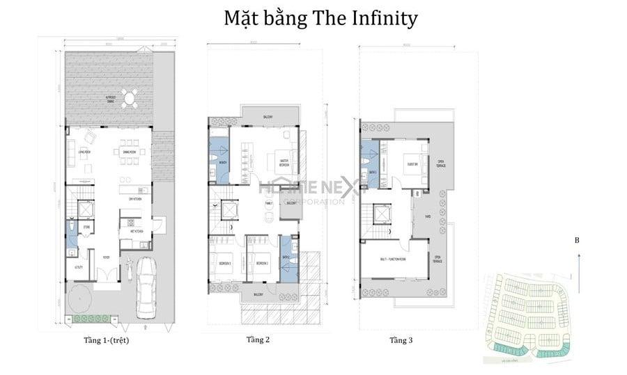 Mẫu nhà phố The Infinity ID Junction