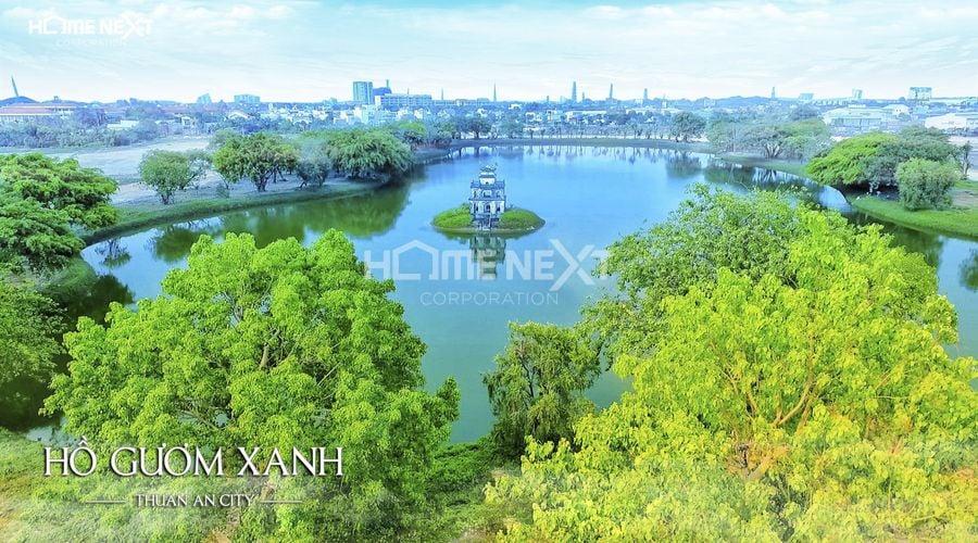 Cận cảnh Hồ Gươm Xanh tại Thuận An Bình Dương