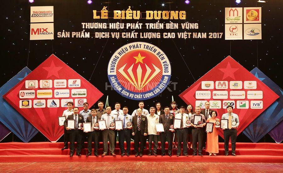 Top 10 Thương hiệu phát triển bền vững Việt Nam 2017