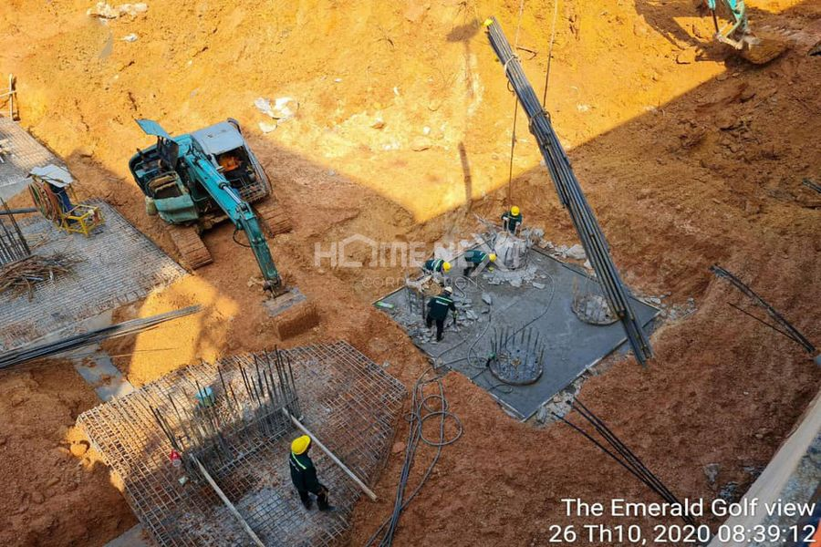 Tiến độ xây dựng dự án The Emerald Golf View tháng 10/2020