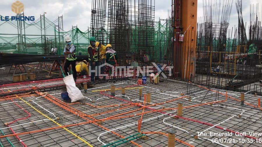 Tiến độ dự án Emerald Bình Dương tháng 07/2021
