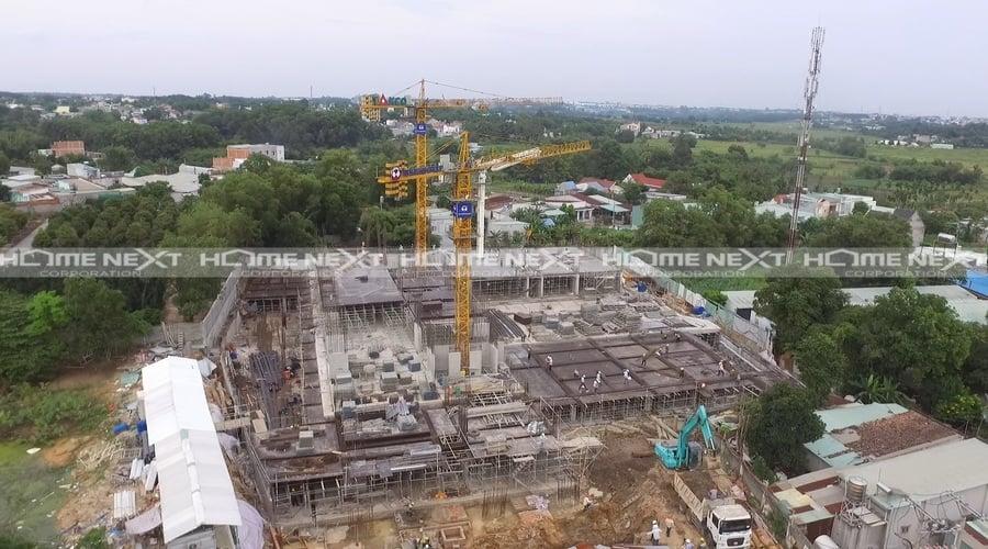 tiến độ xây dựng dự án căn hộ biệt lập Happy One