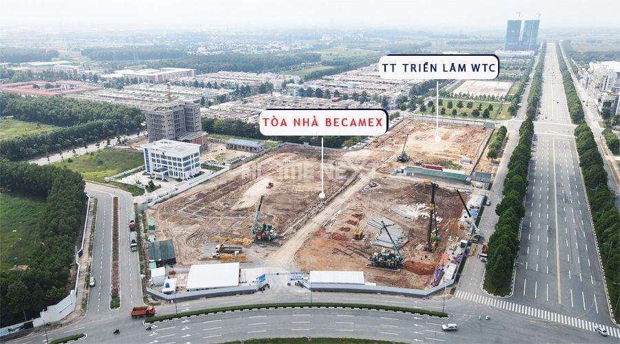 Cận cảnh khu đất xây tòa nhà Becamex thành phố mới