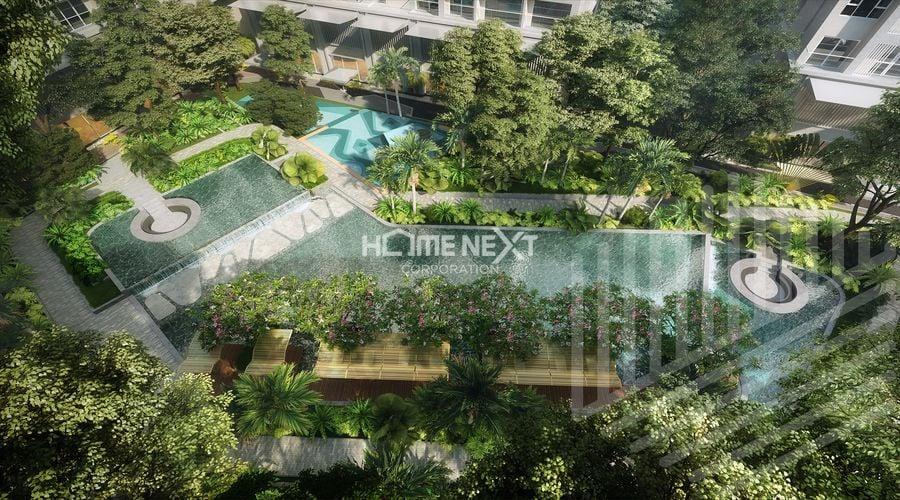 Một góc vườn xanh củadự án Anderson Park